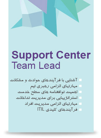 کارگاه Support Center Team Lead
