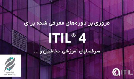 معرفی دوره های مقدماتی و پیشرفته مرتبط با چارچوب ITIL 4